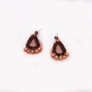 Bohemian, oorbellen, kralen, beads, verguld, guanyin, jewels