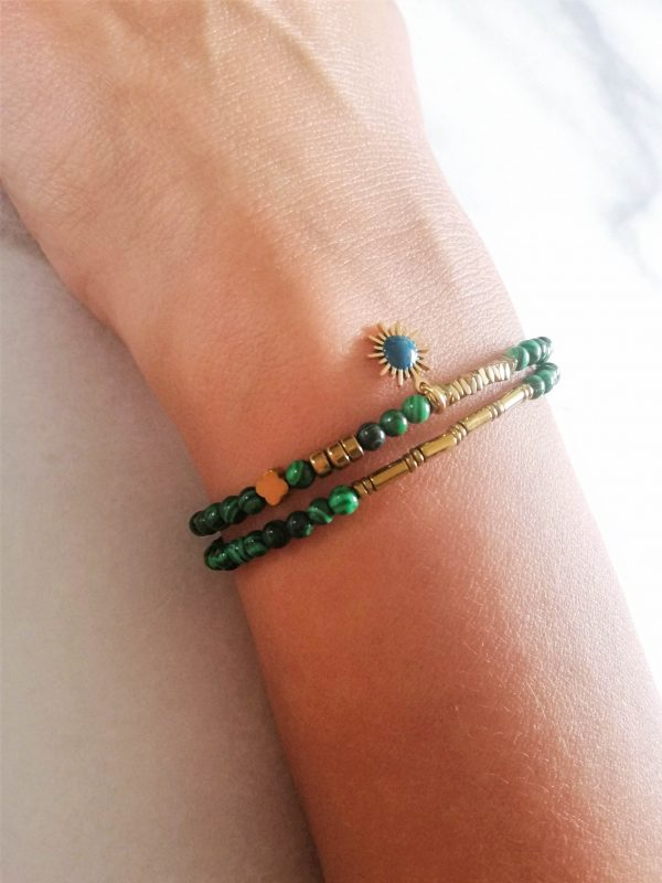 Malachiet, edelsteen, armband
