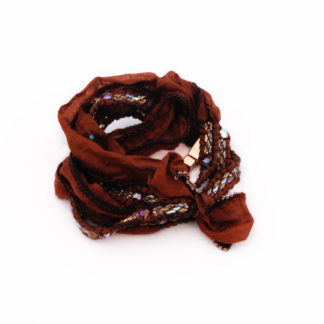 Merlot, wrapbracelet, wikkelarmband, armband, zijde, bracelet, silk, beads, kralen