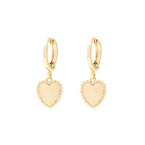 Oorbellen, goud, hart, creolen, ringetjes, guanyin, jewels