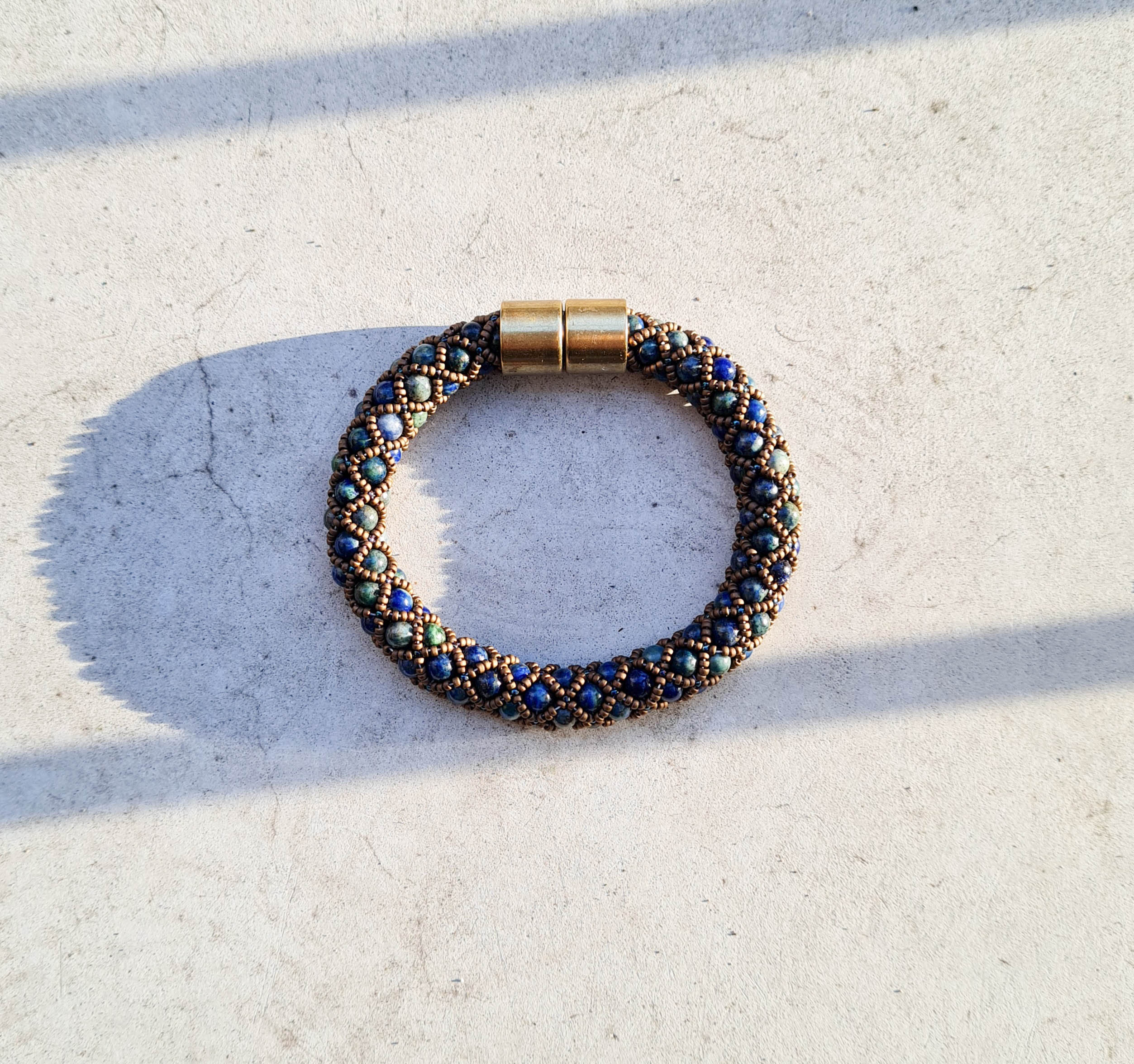 herenarmband lapis lazuli